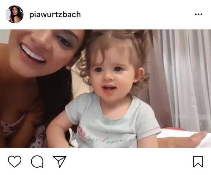LOOK: Miss Universe 2015 Pia Wurtzbach with her cutie mini me!